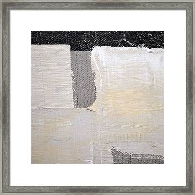 Framed Print featuring the painting Square Study Project 3 by Michelle Calkins