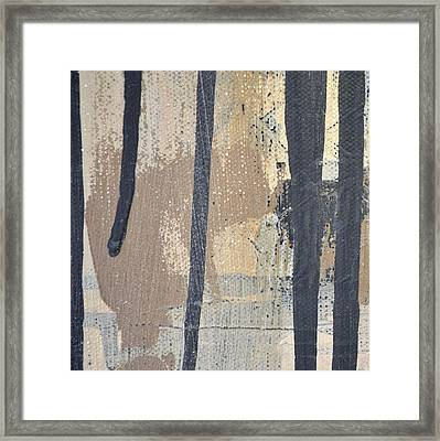 Framed Print featuring the painting Square Study Project 5 by Michelle Calkins