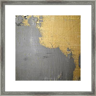 Framed Print featuring the painting Square Study Project 6 by Michelle Calkins