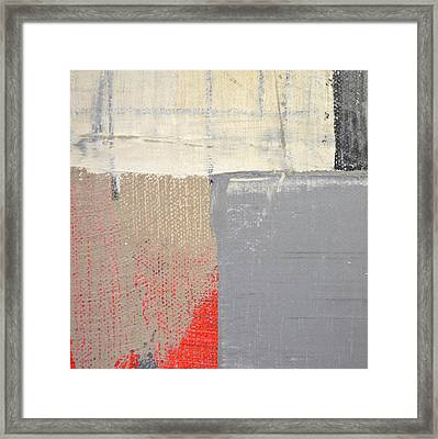 Framed Print featuring the painting Square Study Project 8 by Michelle Calkins
