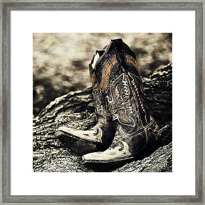 Square Toes Framed Print by Scott Pellegrin
