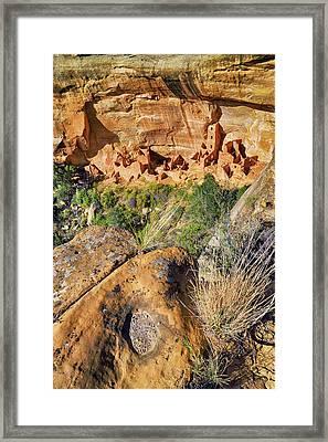 Square Tower House At Mesa Verde National Park - Colorado - Pueblo Framed Print
