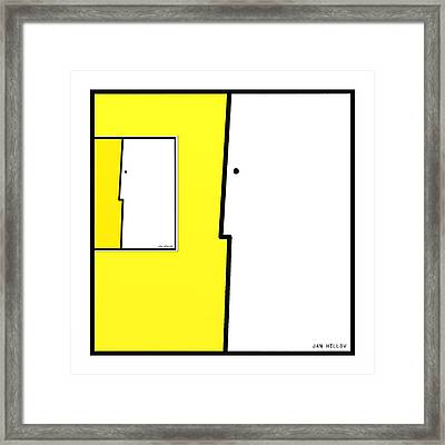 Squarefaces 5 Framed Print by Jan Hillov