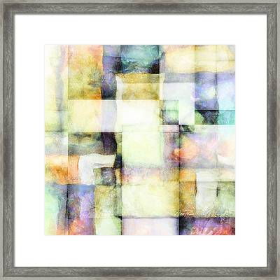 Squares And Rectangles - Abstract Art Framed Print