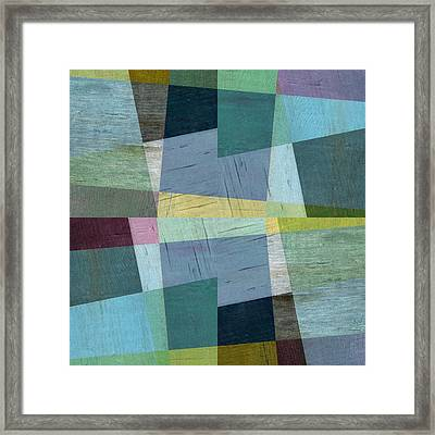 Framed Print featuring the digital art Squares And Shims by Michelle Calkins