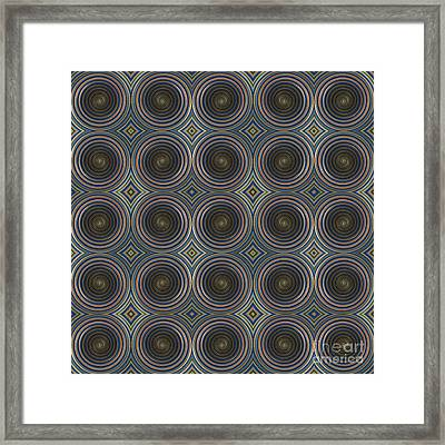 In Squares, Diamonds And Circles Framed Print