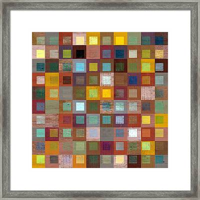 Squares In Squares Four Framed Print by Michelle Calkins