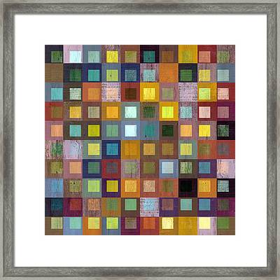 Squares In Squares One Framed Print by Michelle Calkins