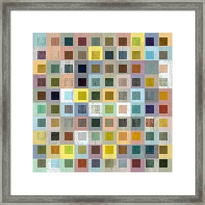 Framed Print featuring the digital art Squares In Squares Three by Michelle Calkins