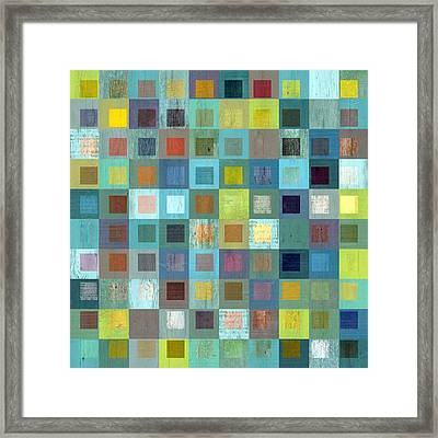 Framed Print featuring the digital art Squares In Squares Two by Michelle Calkins