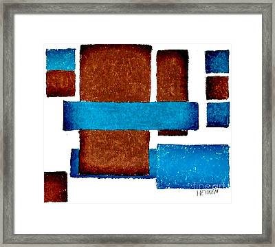 Squares Long And Short Framed Print by Marsha Heiken