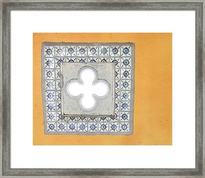 Squares Of Color Framed Print by Keith Sanders