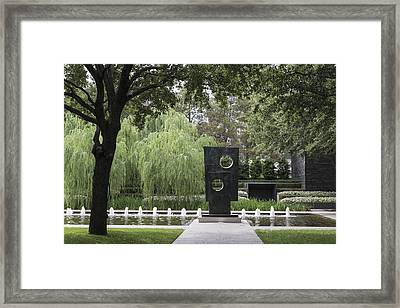 Squares With Two Circles At The Nasher Sculpture Center Is A Museum  In Dallas Framed Print by Carol M Highsmith