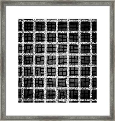 Framed Print featuring the photograph Squaresville by Tom Vaughan