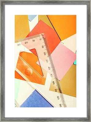 Squaring A Triangular Rule Framed Print