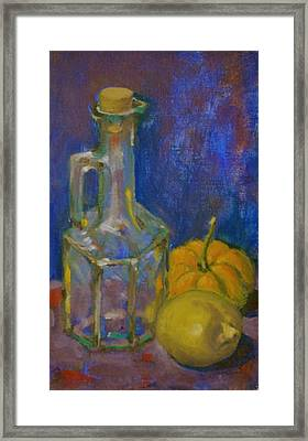 Squash And Lemon Framed Print by Chris  Riley