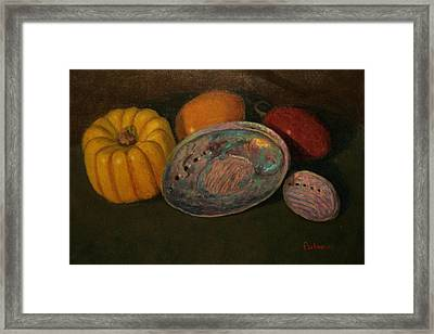Squash And Paua Framed Print