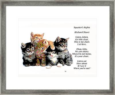 Squatter's Rights Framed Print by Charles Shoup