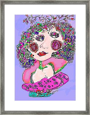 Squatting Lady Framed Print