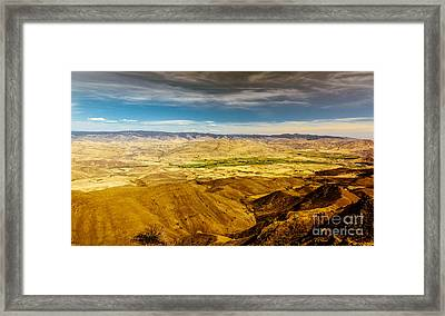 Squaw Butte View Hdr-2 Framed Print by Robert Bales