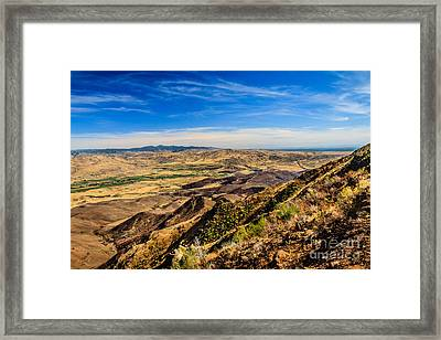 Squaw Butte View Hdr-3 Framed Print by Robert Bales