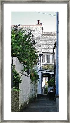 Squeeze-ee-belly Alley Framed Print