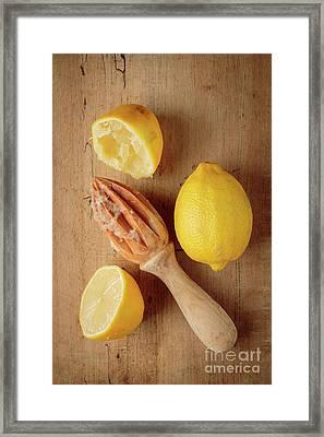 Squeezed Lemons Framed Print by Edward Fielding
