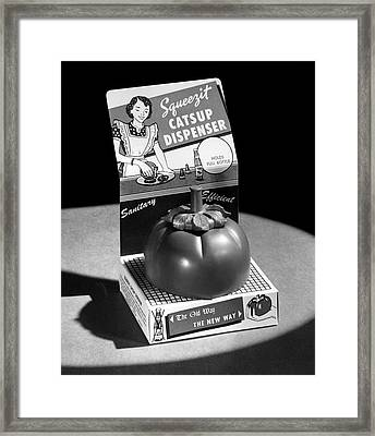 Squeezit Catsup Dispenser Framed Print