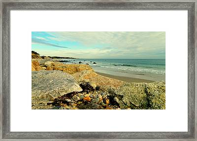 Squibby Cliffs And Mackerel Sky Framed Print