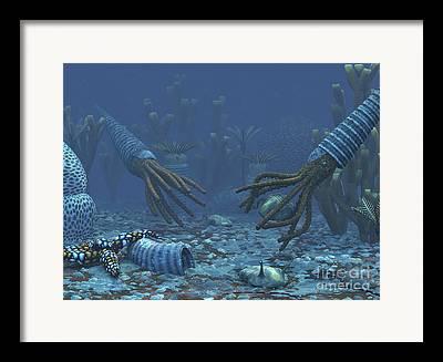 Prehistoric Era Digital Art Framed Prints