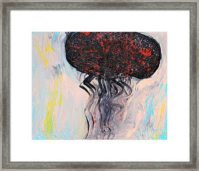 Squidbird Framed Print by Lola Connelly