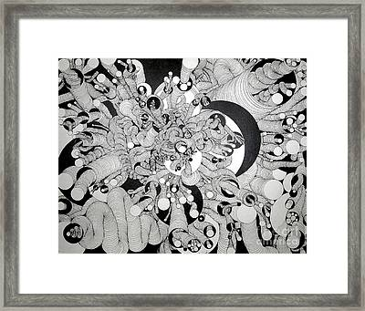 Squiggle Art By Amy Framed Print