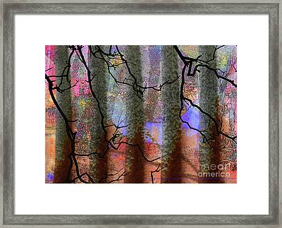 Squiggles And Lines Framed Print by Robert Ball