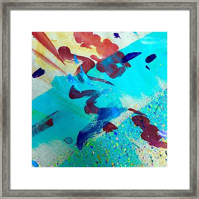 Framed Print featuring the painting Squiggles And Stripes by Darice Machel McGuire