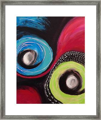 Squiggles And Wiggles   Framed Print by Suzzanna Frank