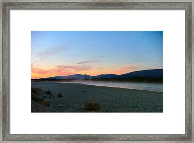 Framed Print featuring the photograph Squirell River In The Morning by Adam Owen