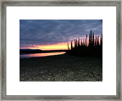 Framed Print featuring the photograph Squirell River Sunset by Adam Owen