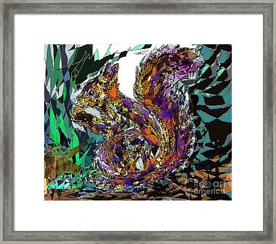 Squirrel Framed Print by Navo Art