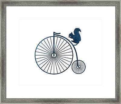 Squirrel On A High Wheel Framed Print