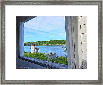 Squirrel Point View From The Deck Framed Print