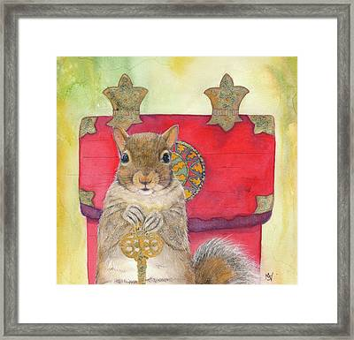 Squirrel Secret Framed Print