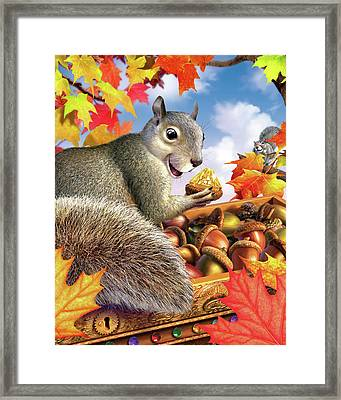 Squirrel Treasure Framed Print