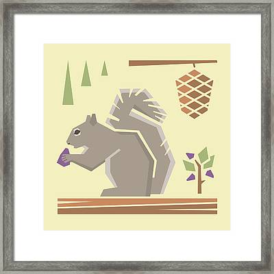 Squirrel1 Framed Print by Mitch Frey