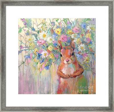 Squirreley Framed Print by Kimberly Santini