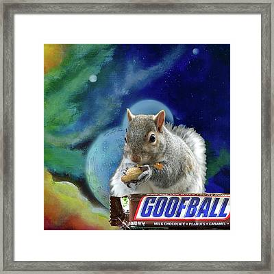 Squirrels In Space Framed Print