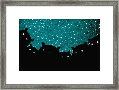 Squirrels In The Night Framed Print