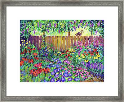 Squirrel's View By Peggy Johnson Framed Print by Peggy Johnson