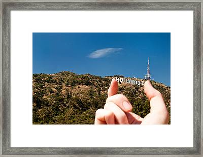 Squish - Beachwood Canyon Framed Print by Natasha Bishop