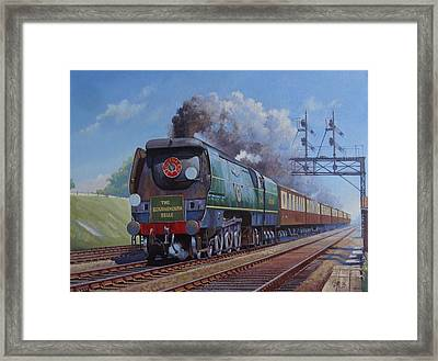 Sr Merchant Navy Pacific Framed Print by Mike  Jeffries
