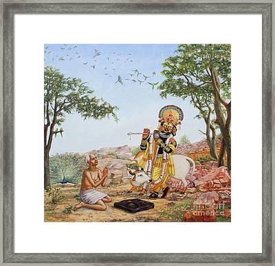 Sri Damodar Gifts Sanatana Framed Print by Dominique Amendola